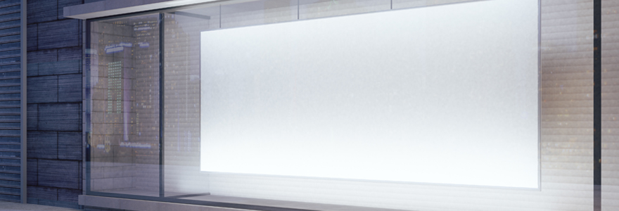 affichages LED vitrines