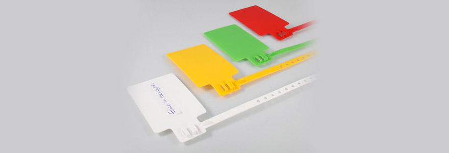 portes etiquettes plastiques